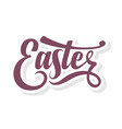 easter calligraphic text vector image