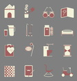 Elderly related color icons on gray background vector image vector image