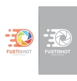 fast camera shutter logo combination Speed vector image vector image