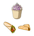 fast food cartoon icons in set collection for vector image vector image