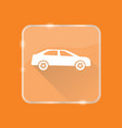 flat style car silhouette icon vector image