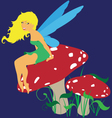 Forest Fairy Scene vector image