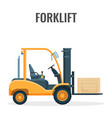 forklift truck with cargo icon loader vector image