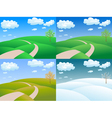 four seasons landscape vector image vector image