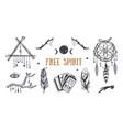 free spirit boho collection dreamcatchers vector image vector image