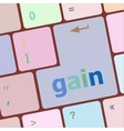 gain word on computer pc keyboard key vector image vector image