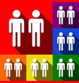 gay family sign set of icons with flat vector image vector image