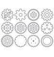gear icons collection vector image vector image