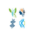 genetic health logo design icon concept set vector image vector image