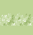 geometric style tender light green spring foliage vector image