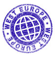 grunge textured west europe stamp seal vector image vector image