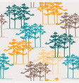 hand drawn pine grove seamless pattern vector image