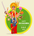 happy dussehra for sale shopping maa durga on vector image vector image