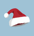 hat xmas icon cartoon style christmas day vector image