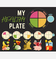 healthy eating plate vector image vector image