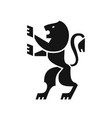 heraldic lion black icon coat of arms in modern vector image