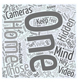 hidden video cameras Word Cloud Concept vector image vector image