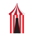 isolated carnival tent vector image vector image