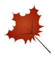isolated fall leaf vector image