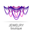 jewelry boutique template vector image vector image