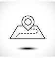 location line icon pin on map vector image