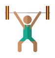 man weight lifter sport athlete vector image vector image