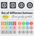 Medal award first icon sign Big set of colorful vector image