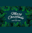 merry christmas and happy new year text template vector image vector image