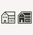 minimal residential building or house outline and vector image