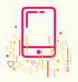 Mobile phone on abstract colorful geometric light vector image vector image