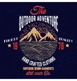 Mountain and sea adventure emblem vector image vector image