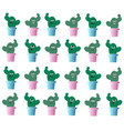 ollection amusing cactuses with emotions vector image