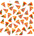 pizza seamless pattern background vector image vector image