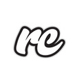 rc r c black and white alphabet letter logo vector image vector image