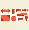 red signs and badges icon illiustration vector image
