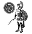 roman warrior vector image vector image