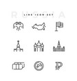 russia line icon set business money isolated vector image vector image