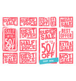 sale signs collection vector image vector image