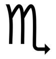 scorpion symbol zodiac icon black color flat vector image