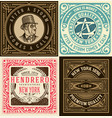 set 4 old cards vector image vector image