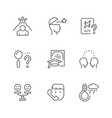 set line icons psychology vector image vector image