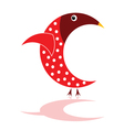 sparrow in red color vector image