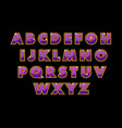 stylish purple alphabet abc color abstract vector image