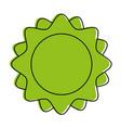 sun minimalistic representation icon image vector image vector image