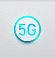 technology 5g button on network white background vector image vector image