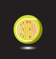 tennis sport logo vector image vector image