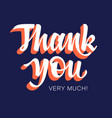 thank you 003 vector image vector image