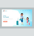 time to travel woman and kid mother and daughter vector image vector image