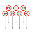 traffic signs speed limit vector image vector image