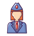 train conductor icon cartoon style vector image